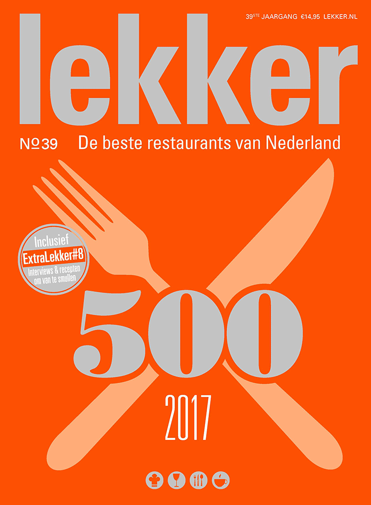 Magazine cover Lekker500 2017 - De beste restaurants van Nederland